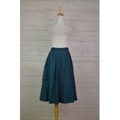 Pleated & Tassel Skirt
