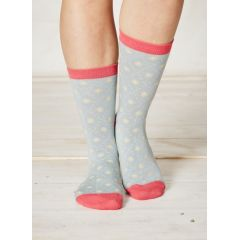 Diamon Daisy Socks - Duck Egg