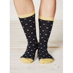 Diamon Daisy Socks - Navy