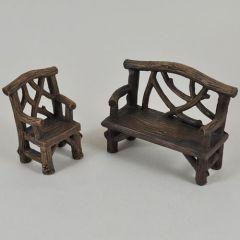 Fairy Bench & Chair Set