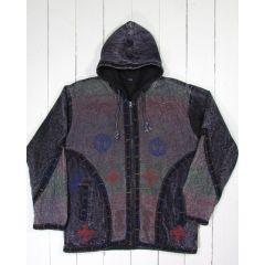Lined zipped hoody