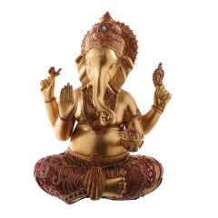 Large gold and red Ganesh