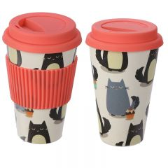 Bamboo Travel Cup - Cat
