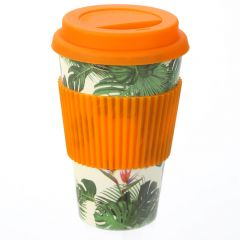 Bamboo Travel Cup - Cheese Plant