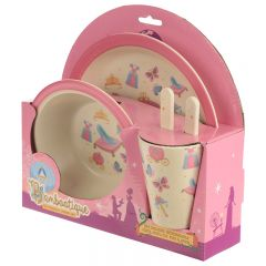 Bamboo Plate/Cutlery Set - Princess