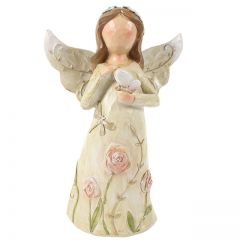 Angel holding butterfly