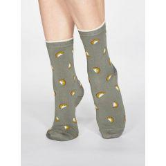 Rowena Fruit Socks - Sage