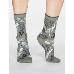 Nelly Floral Socks - Sage